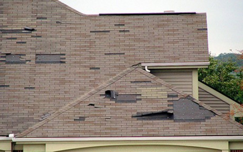 Hurricane Damaged Roof