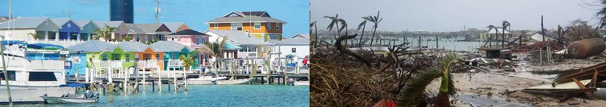 Grand Cay Bahama before and after Hurricane Dorian