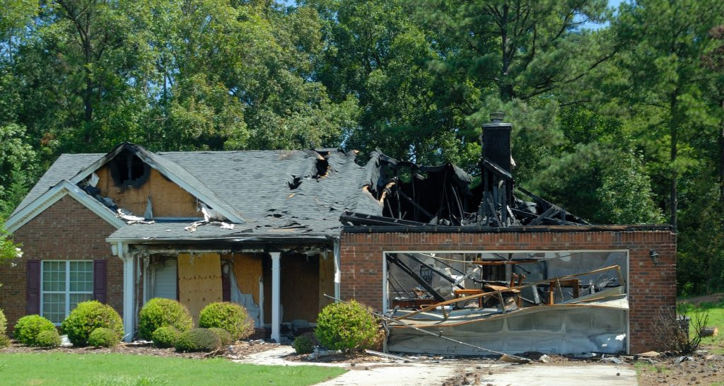 fire damage to single family home