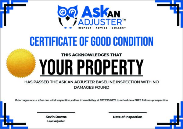 Certificate of Good Condition (EDITABLE)